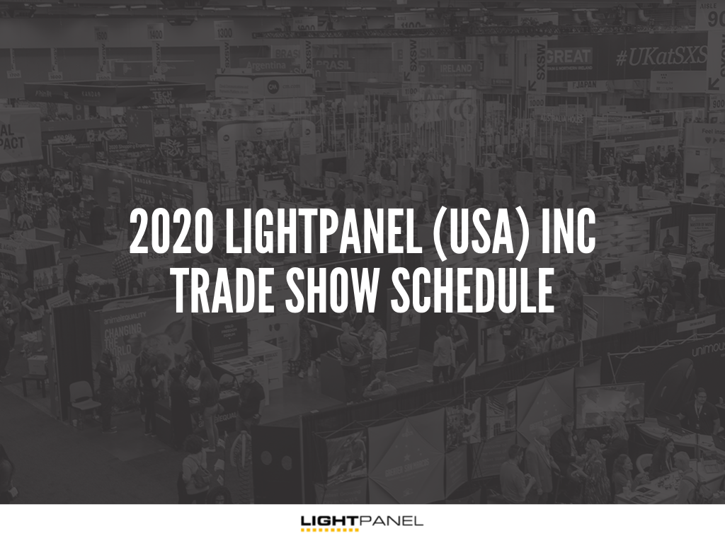 2020 LIGHTPANEL (USA) INC trade show schedule